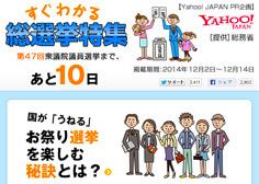 Yahoo!+総務省プレゼンツ 総選挙2015スペシャルサイト